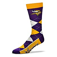 For Bare Feet Adult NFL Crew Socks Size: Adult One Size - Minnesota Vikings