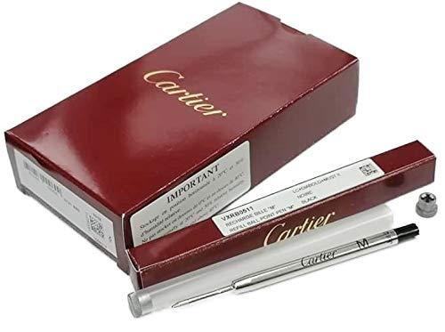 Cartier VXRB0511 REFILL M カルティエ リフィル 黒M字(中字) 対応ボールペン専用替芯 10本入 Cartier 純正BOX・プラスチックケース
