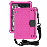 for Huawei MediaPad T5 10.1 inch Tablet Case for Kids - Durable Lightweight EVA + PC Shockproof Handle Stand Cover, with Shoulder Strap