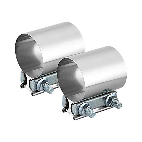 2.5' Butt Joint Band Clamp Exhaust Sleeve Stainless Steel 2 Pieces