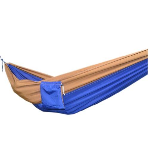 Creative sur toile Couleur assortie Hamac pliable Hamac 259,1 x 139,7 cm Camel et bleu