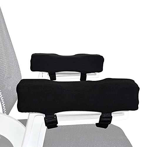 Chair Armrest Pads, Memory Foam Office Armrest Pillow, Ergonomic Anti-Slip Elbow Cushion, Relief Chair Pads for Office Gaming Wheel Chair
