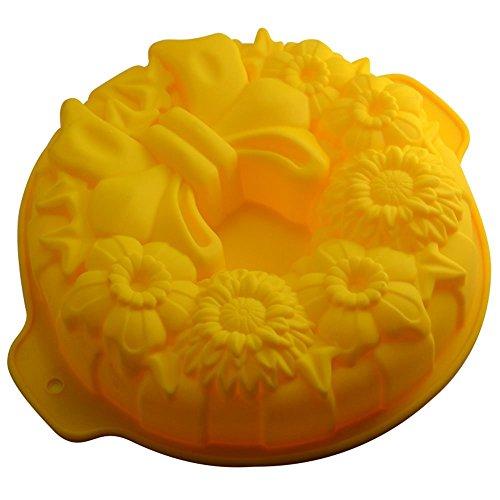Familie Geburtstagsparty Silikon Blume Geformt Bogen Cookie Kuchenform Backform (Farbe Zufällig) Huihuger