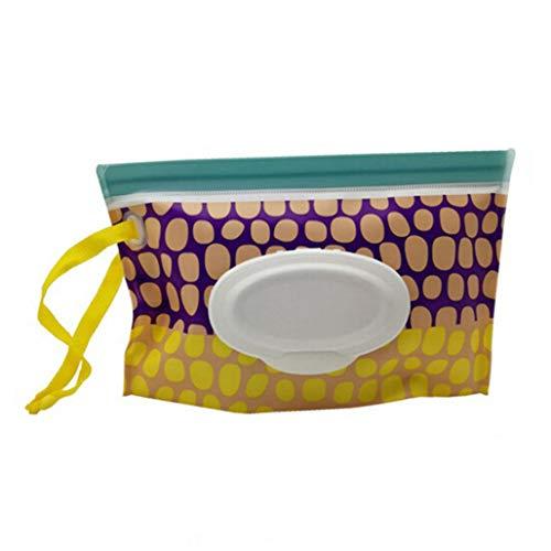 Kaned Feuchttücher-Spender, Cartoon-Muster, wiederverwendbar, nachfüllbar, für den Außenbereich