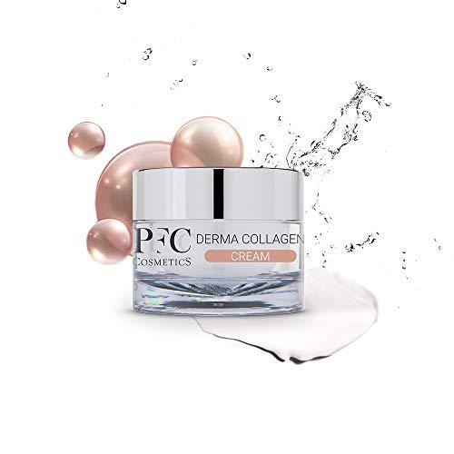 PFC Cosmetics - Crema Facial Efecto Lifting Derma Collagen Cream 50ml Loción Hidratante con Colágeno Ácido Hialurónico Vitamina E BMS Derma-Tense Miniporyl® para el Cuidado Personal.