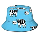 out Cow and Milk Unisex Fischerhüte Sonnenhüte Flat Top Fisherman Hat Outdoor Sonnenkappe