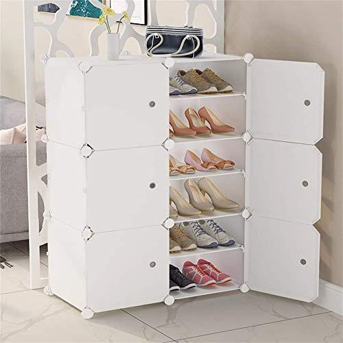 HLL Conjunto simple de estantería para zapatos, almacenamiento de múltiples capas, almacenamiento de polvo, hogar, simple, moderno, combinación de columnas de plástico, capas