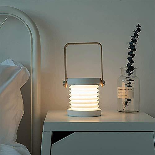REOOHOUSE Luz de Noche 3D lámpara portátil para Exteriores lámpara de Mesa LED lámpara de cabecera USB Recargable lámpara de Linterna Creativa (Color:Blanco) (Color : Turquoise)