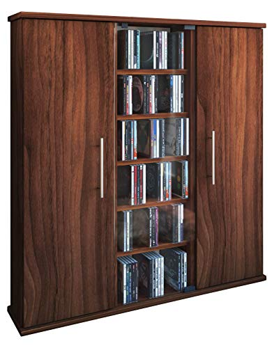 VCM Santo-Torre para CD/DVD, para 450 CDs, Color Vetas de Nogal