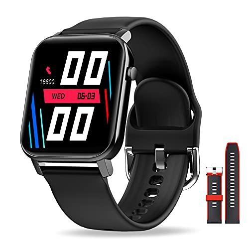 EPILUM Smartwatch, 1,4' Reloj Inteligente Mujer Hombre con Pulsómetro,Cronómetros,Calorías,Monitor de Sueño,Podómetro Monitores de Actividad, Relojes Inteligentes IP68 Impermeable FIT-O