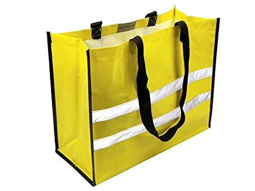 EXACT SELLER - Einkaufstasche, Umhängetasche, Schultertasche, Eco Friendly, Reflector Bag, Shopping Bag, Shopper, Tasche, Beutel, Korb, Umweltschutz, Reflektierend, Mehrweg, ES-001/45x35x18cm