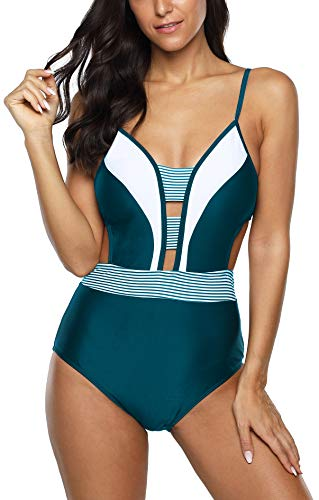 Jouplsar Womens One Piece Swimsuit Tummy Control Bathing...