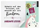 myNOTES Stickerheft Scheiß auf den Prinzen, ich wünsch mir ein Einhorn: Fabelhafte Sticker