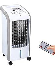 JUNG COMMODO mobiles Klimagerät mit Wasserkühlung, TÜV geprüft, inkl. Fernbedienung + Timer, Mobile Klimaanlage leise, Kühlender Ventilator ohne Abluftschlauch