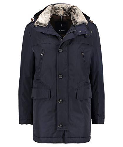 Joop! Herren Mantel Mikrofaser Warme Jacke Einfarbig Blau 56