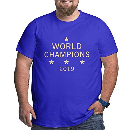 Xmy888 US Women's Soccer Team Win World Champions Four Title 2019 Big Size Men's T-Shirt,Big Tshirts For Men's
