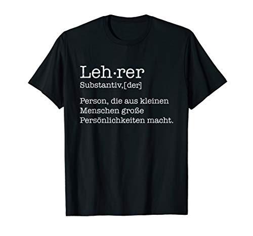 Herren Definition Lehrer Schule Beruf Lustiges stolzes Geschenk T-Shirt