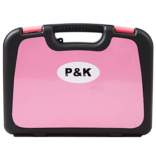 135 Teilig Werkzeugset Werkzeugkoffer Werkzeugkasten Pink Rosa - 3