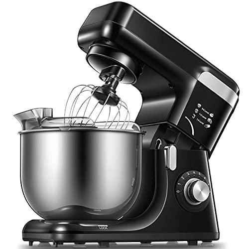 Küchenmaschine Knetmaschine,8 Geschwindigkeitsstufen Rührmaschinen mit Schüssel 5,5 l