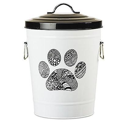 Amici Pet Zentangle Pet Food Storage Bin (Paw)