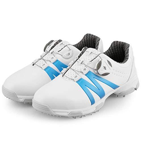 CGBF- Wasserdichte Golfschuhe für Kinder, Jungen, Mädchen, Sportschuhe, bequem, leicht, Sneakers für Ihre Füße., Blau - blau - Größe: 34 EU