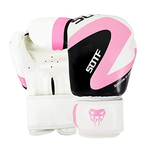 Dljyy - Guantes de boxeo Black Sun Ruhm, para adultos, deportivos, de piel, para Muay, Thai, MMA, Sanda, para adultos, color rosa, color rosa, tamaño 10oz