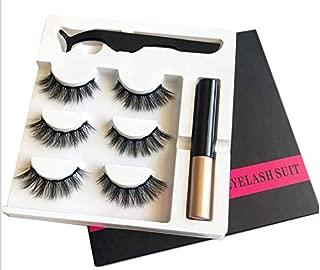 Magnetic Eyelashes 3 Pack, YIFENG 3D Natural Look Lashes Eyeliner Kit, Reusable False Lashes with Applicator