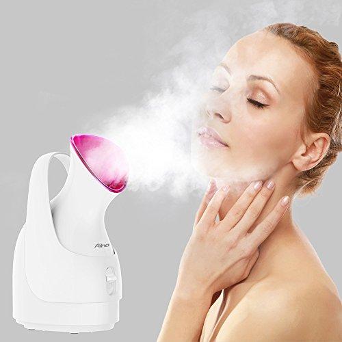 Aiho Sauna facciale, cura della pelle personale, sauna facciale nanoionica, per pori non aperti, punti neri, Bianco