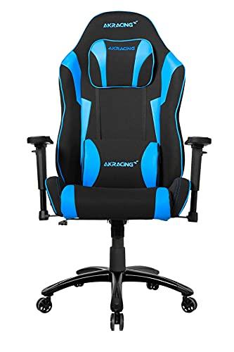 AKRacing Core Series EX-Wide SE Gaming Chair - Fabric with PU Accents, Wide Steel Frame, Ergonomic, High Backrest, Recliner, Swivel, Tilt, Rocker & Height Adjustment Mechanisms, 5/10 Warranty, Blue