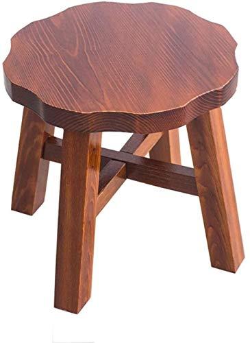 FZWAI Massief houten krukje bankje houten krukje fashion bank dineren kruk Thuis pedaal Specials