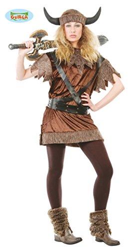 Guirca–Disfraz de vikinga guerrera para adulto, M, 80416