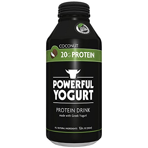Powerful Drink – Protein Shake, Meal Replacement Shake, Greek Yogurt, Gluten Free, Ready to Drink, 20g Protein, Coconut, 12 Pack