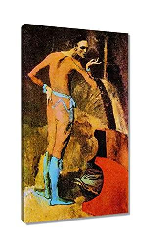 Un actor de Pablo Picasso Famoso Cuadro Decoración Pared Cuadros Para Dormitorios Modernos Lienzo Cuadros Decorativos Decoracion de Salones Listo para colgar (20x35cm8x14inch, enmarcado)