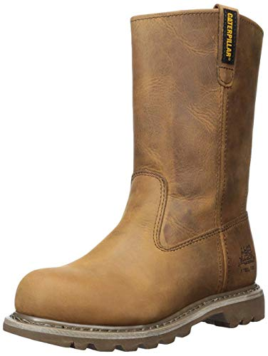 Caterpillar womens Revolver Steel Toe Work boots, Dark Beige, 9.5 US