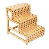 ZXL Escalera, escalera de mano, estante, escritorio, taburete de escalera, silla, taburete, taburete de escalera multifuncional Silla de trabajo de banco de madera maciza de diseño de tres niveles Si