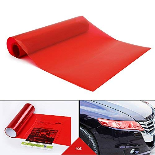 YAOBLUESEA Scheinwerfer Tönungsfolie Auto Folie Rückleuchten Nebelscheinwerfer Aufkleber rot 200x30cm