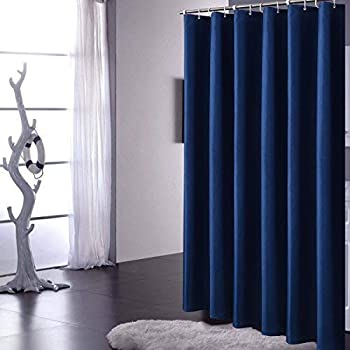 Amazon Com Yuunity Ruffle Shower Curtain Polyester Fabric