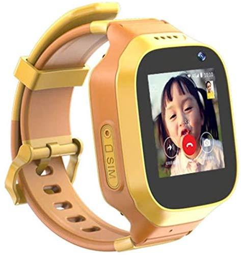 JSL Inteligente HD Niños s Reloj Ubicación Teléfono GPS Niño Localizador Amarillo_L