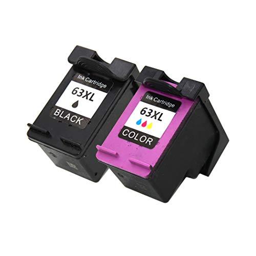 『【インク革命製】 HP63XL (顔料ブラック+カラー 大容量セット) ヒューレット・パッカード F6U64AA/F6U63AA リサイクル インクカートリッジ』のトップ画像