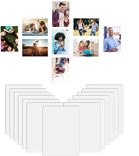 HOUSE AGAIN 12 Pack 4 x 6 Magnetic Picture Frames Photo Frames for Refrigerator, Easy to Get Photo in, Organize and Protect Photos, Magnetic Photo Pockets Sleeves with Full Strong Magnetic Backing