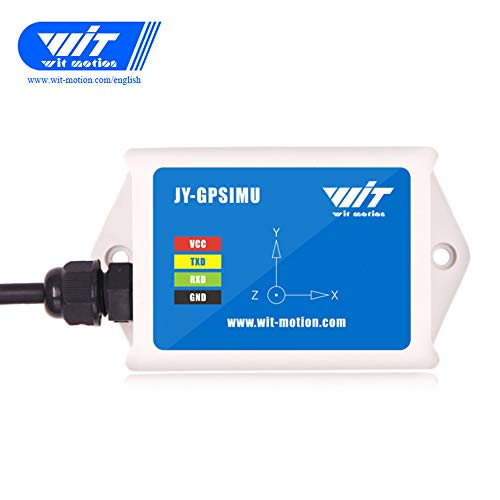 WTGAHRS2 Sensor IMU de alta precisión de 10 ejes Acelerómetro de 3 ejes Ángulo del giroscopio Magnetómetro Barómetro Velocidad de avance del GPS Salida TTL con BeiDou GPS de posición de navegación