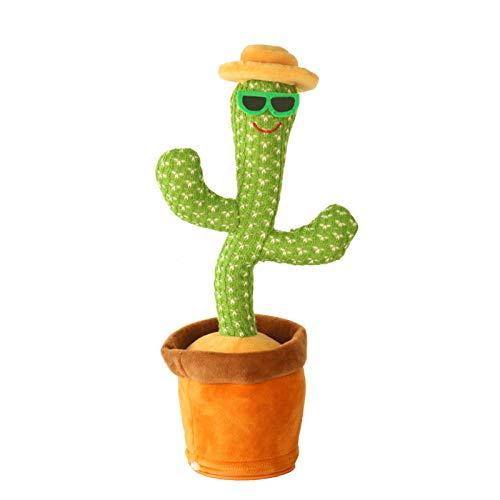 Stronrive Juguete De Peluche De Cactus Bailarín, Divertido Canto Y Baile De Cactus, Cactus Electrónico Que Baila con Vibración, para La Educación De La Primera Infancia, Cumpleaños Y Navidad