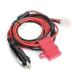 BYARSS 1.5m / 4.9ft 12V Encendedor de Cigarrillos en Forma de T Radio de Coche Cable de alimentación Cable de Ajuste 2P for Kenwood TM-201B