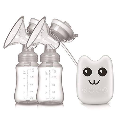 Review JINGJING Electric Breast Pump Double Suction Portable Silent Breastfeeding Pump Breast Massag...