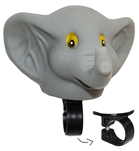 Fahrradhupe / Fahrradklingel - Elefant - Fahrrad für Kinder - passend für alle Größen - bunt Kinderglocke - Mädchen & Jungen - Tier Lenkerhupe - Tier / Quiets..