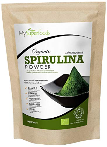 MySuperFoods Organic Spirulina Powder 1Kg, Natural Vegan Protein Source