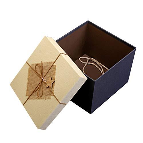 PRETYZOOM Caja de Regalo de Cumpleaños Cartón Vintage Cuadrado Bombones de Chocolate...