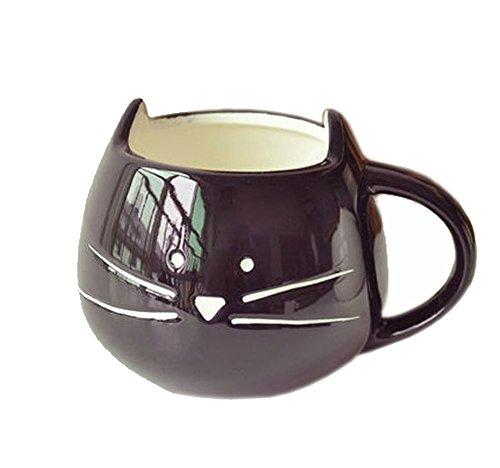 FunRun Nette Kätzchen Kaffee Tasse Keramik Porzellan Tasse für Wasser/Tee/Milch/Kaffeeischer Schutz