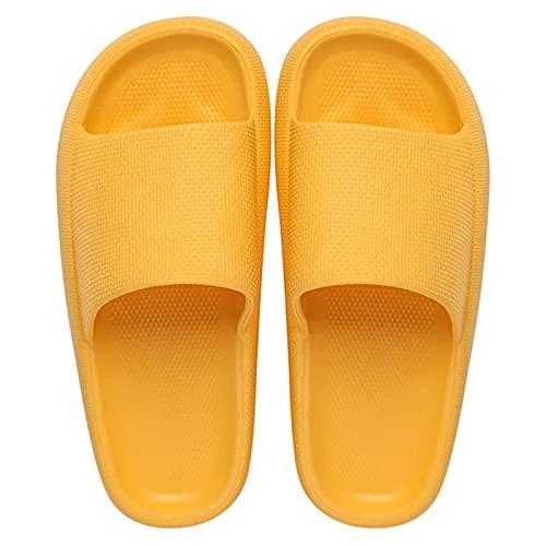 Zapatillas para Mujer y Hombre Antideslizante Suela Gruesa Sandalias de baño súper Suaves Secado rápido Mudo Pareja Almohadas Zapatillas,01,EU 40