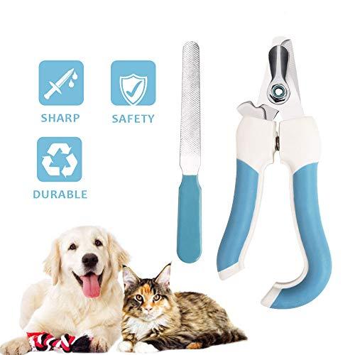 Wimaha Perro Gato Cortaúñas Tijeras para uñas Tijeras de podar para Mascotas con Lima de uñas Protección de Seguridad para Perros Grandes Gatos Conejos